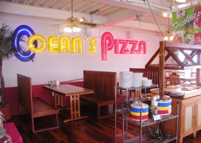 Interior of Oceans Pizza